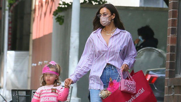 Bradley Cooper's Daughter, Lea, 4, Holds Her 'Twin' Doll In Princess Tiara & All Pink With Mom Irina Shayk.jpg