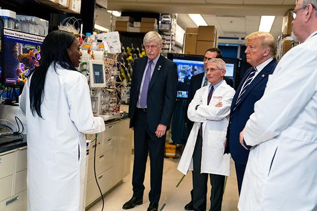 Dr. Kizzmekia Corbett Donald Trump Anthony Fauci