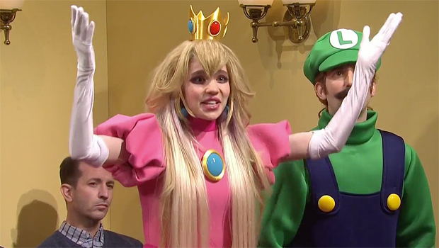 Grimes Appears As 'Princess Peach' Alongside Elon Musk's 'Wario' In 'Mario & Luigi' Sketch On 'SNL' — Watch.jpg