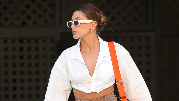 This Stylish Collared Crop Top Looks Similar To Hailey Baldwin's & Costs Less Than 1/2 The Price