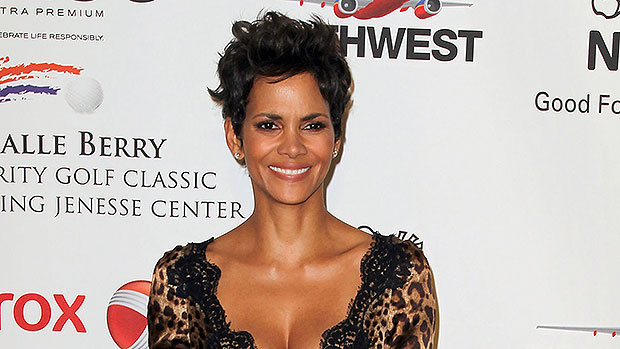 Halle Berry Channels Kylie Jenner's 'WAP' Video Look With Animal Print Bodysuit & Boots