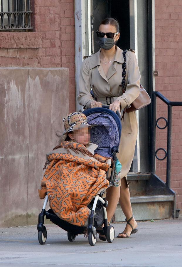 Irina Shayk daughter matching coats