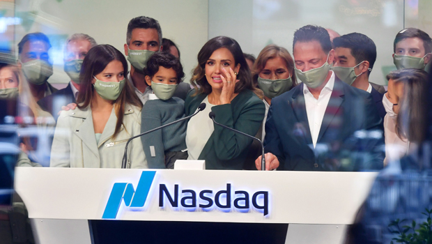 Jessica Alba Rings Nasdaq Bell Alongside Her Kids As The Honest Company Raises $412 Million.jpg