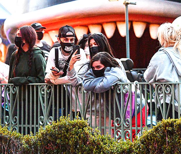 Kourtney Kardashian Travis Barker Disneyland