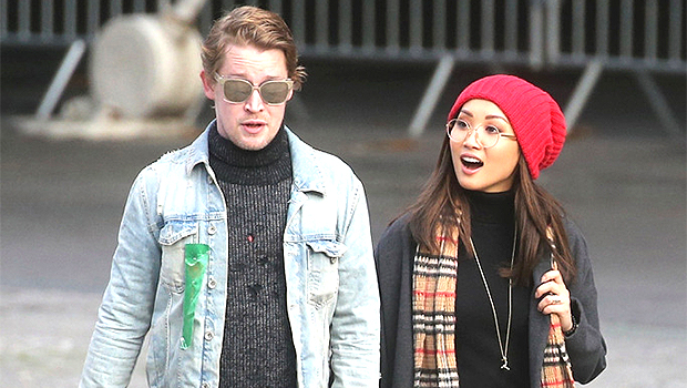 Macaulay Culkin's Girlfriend Brenda Song Cradles Their Newborn Son In 1st Pics Since Baby's Birth