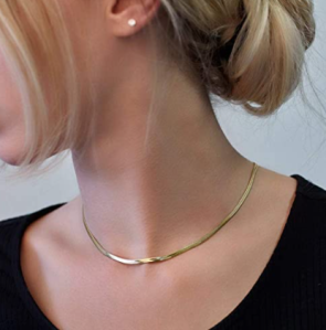 Gold medallion choker necklace