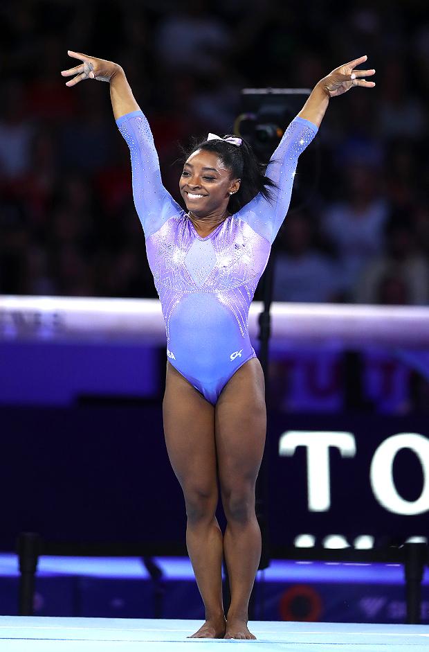 Simone Biles Olympics Practic shutter embed
