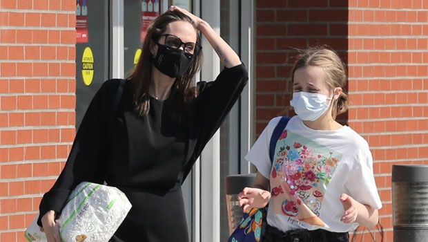 Vivienne Jolie-Pitt, 12, Is Stylish In Black Jean Shorts On Shopping Trip To Pet Store With Mom Angelina.jpg