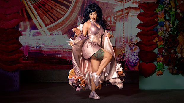 Cardi B Stuns In Rose Gold Lamé Mini Dress For Sexy New Reebok Campaign — See Pics