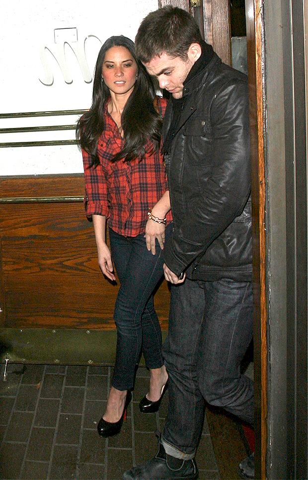 Olivia Munn and Chris Pine