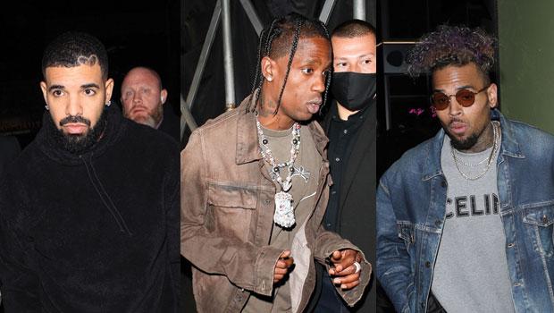 Drake, Travis Scott, Chris Brown