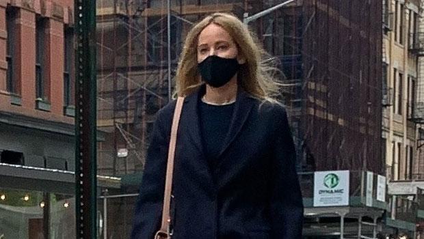 Jennifer Lawrence Makes Rare Appearance Shopping In NYC Wearing A Sleek Black Coat.jpg
