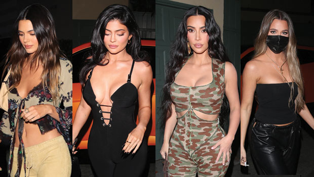Kendall & Kylie Jenner & Kim & Khloe Kardashian All Slay In Plunging Looks At 818 Tequila Party — Pics - HollywoodLife