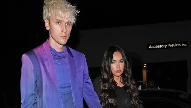 Megan Fox Celebrates 35th Birthday In Red Bra & Matching Suit With Machine Gun Kelly — See Pics