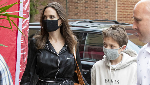 Knox Jolie-Pitt, 12, Is Dad Brad Pitt's Mini-Me On Lunch Date With Mom Angelina & Brother Pax, 17