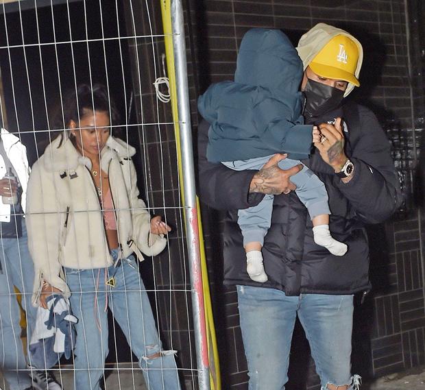 Ammika Harris, Chris Brown and son Aeko