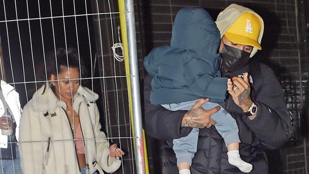 Chris Brown, Ammika Harris and son Aeko