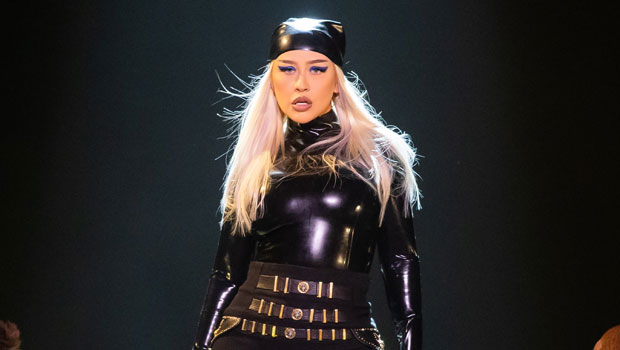 Christina Aguilera Channels Catwoman In Sexy Latex Jumpsuit For Las Vegas Performance.jpg