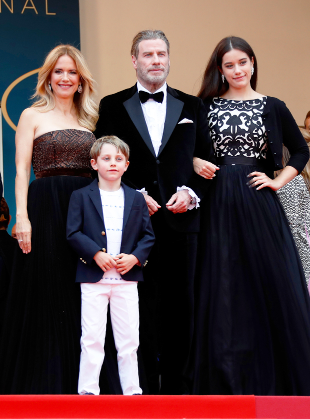 John Travolta and Kelly Preston with daughter Ella and son Benjamin