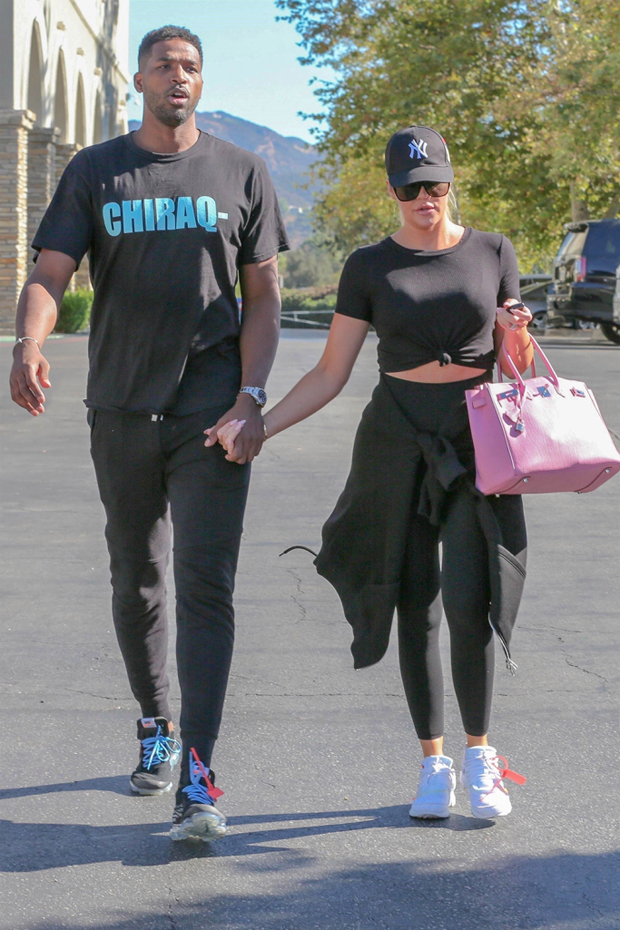 Calabasas, CA - *EXCLUSIVE* - Khloe Kardashian and Tristan Thompson go on a movie date, to see