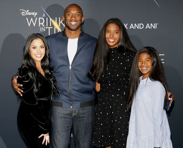vanessa and kobe bryant with their daughters