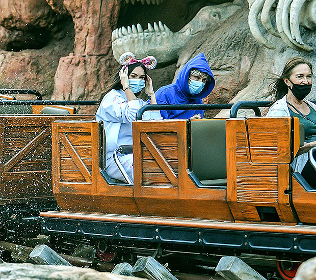 Megan Fox Machine Gun Kelly Disneyland Pics