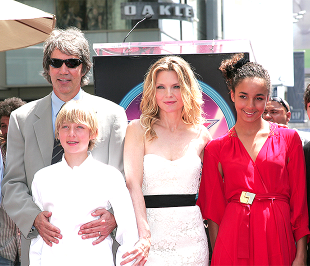 Michelle Pfeiffer with husband David E. Kelley, son John Henry and daughter Claudia Rose