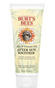 Burt's Bees after-sun lotion