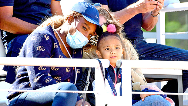 Serena Williams Teaches Her Daughter, Olympia, The Secret To The Perfect Tennis Swing — Watch