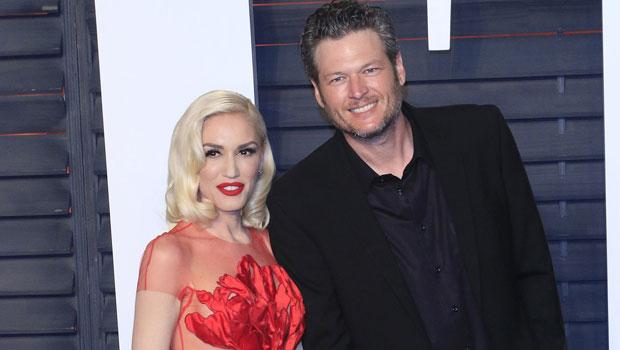 Gwen Stefani Rocks Diamond Band On Wedding Finger Sparking Rumors She Wed Blake Shelton