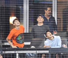 Jerry Seinfeld and son attend New York Mets vs New York Yankees at Citi field on September 10,2021 in Queens ,NY.Pictured: Jerry Seinfeld,Julian Kal SeinfeldRef: SPL5254559 100921 NON-EXCLUSIVEPicture by: Jackie Brown / SplashNews.comSplash News and PicturesUSA: +1 310-525-5808London: +44 (0)20 8126 1009Berlin: +49 175 3764 166photodesk@splashnews.comWorld Rights
