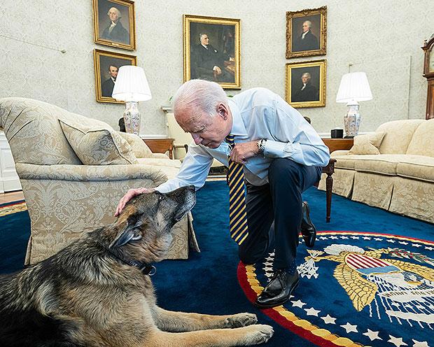 Joe Biden & Champ