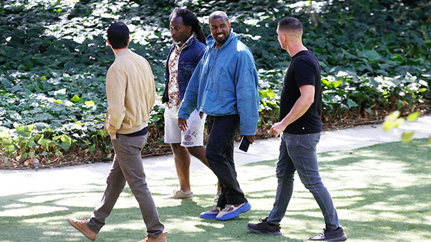 Kanye West Can't Stop Smiling As He Returns To Malibu After French Getaway With Irina Shayk