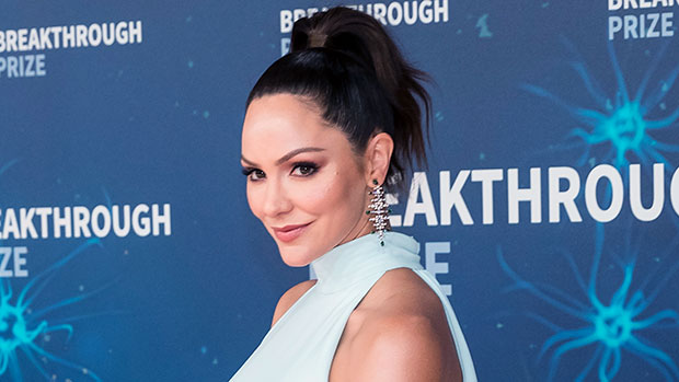 Katharine McPhee Rocks A Black Swimsuit & Plays With Son, 4 Months, In The Pool: Photo.jpg