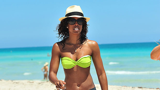 Kelly Rowland, 40, Looks Sensational In Cutout Swimsuit 5 Months After Giving Birth
