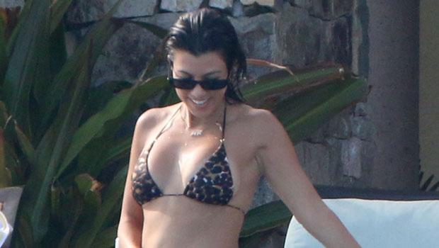 Kourtney Kardashian Rocks A Black Bikini & Cowboy Boots As She Laughs: 'LOL' — See Pic