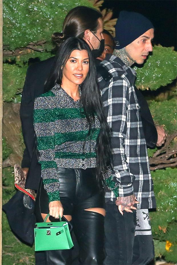 Kourtney Kardashian Travis Barker blink 182 hoodie