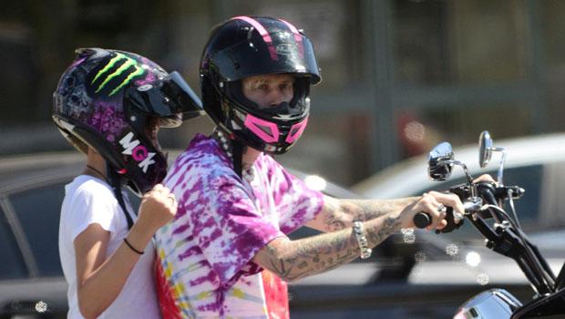 Machine Gun Kelly Takes Daughter Casie, 11, For A Motorcycle Ride As Megan Fox Heads To Disneyland