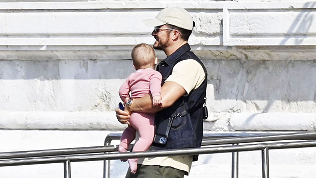 Orlando Bloom Cuddles Baby Daisy, 9 Months, As They Head On Venice Boat Ride With Katy Perry