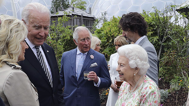 Queen Elizabeth Welcome Joe & Dr. Jill Biden To Royal Reception Wearing Lovely Floral Gown: See Pics.jpg