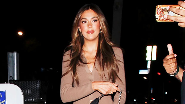 Sylvester Stallone's Daughter Sistine, 22, Stuns In Fitted Beige Dress & Sandals For Night Out thumbnail