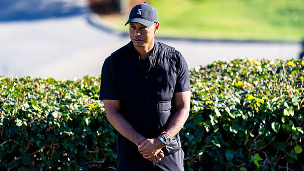 Tiger Woods Still Walking With Crutches Nearly 4 Months After Car Crash In New Photos.jpg