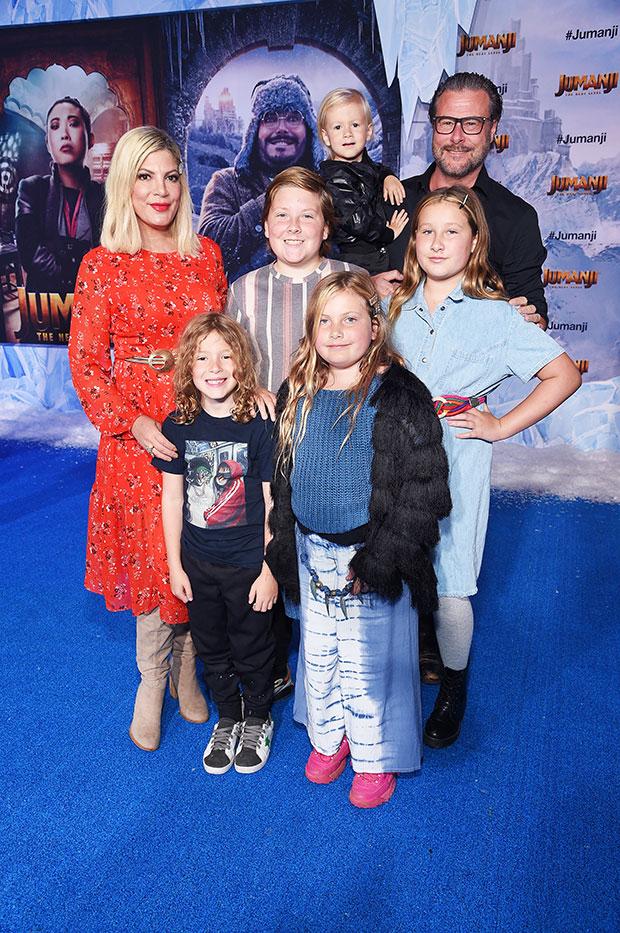 tori spelling, dean mcdermott, and their children