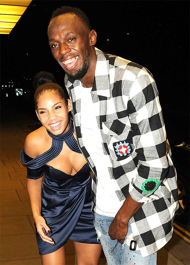 Kasi Bennett and Usain Bolt