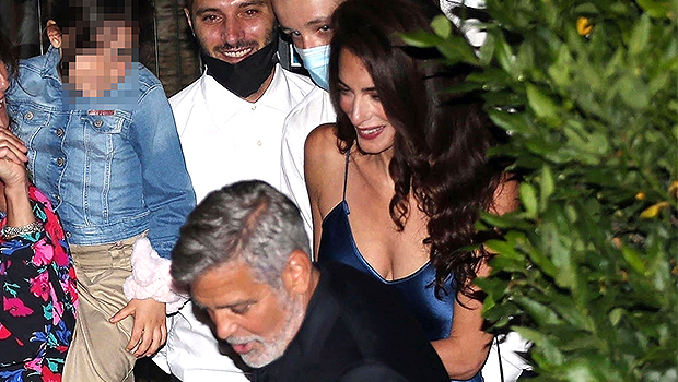 Amal and George Clooney were all smiles leaving a romantic dinner in Lake Como, Italy.