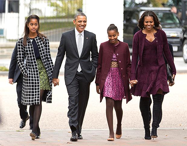 malia, barack, sasha, and michelle obama
