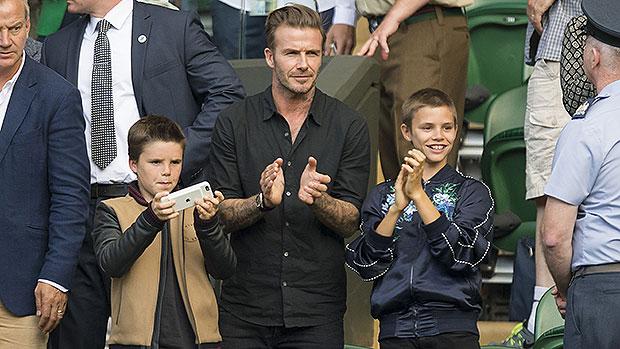 David Beckham, 46, & His Sons Cruz, 16, & Romeo, 18, Look Like Triplets In New Photo.jpg