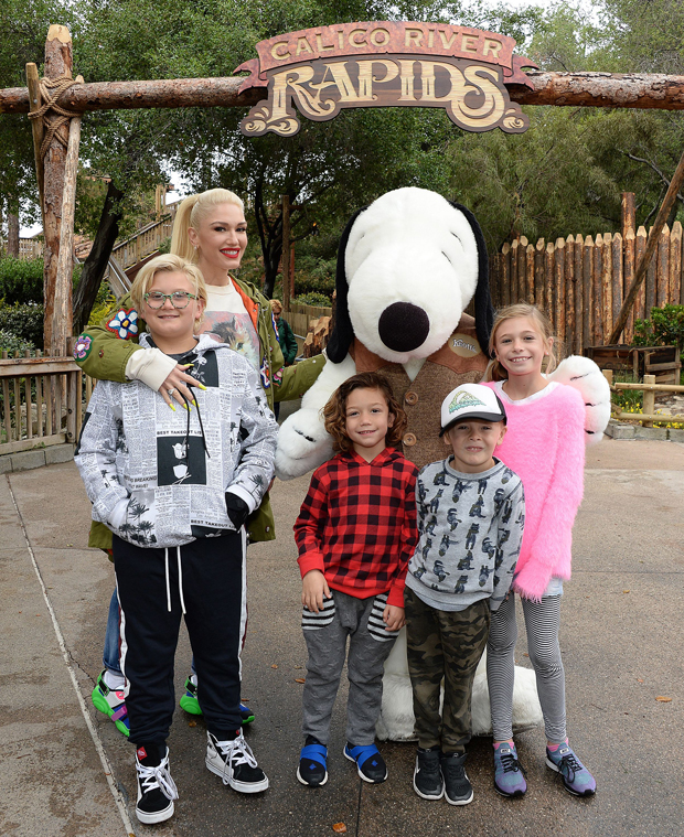 Gwen Stefani and her kids