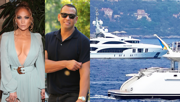 J.Lo's 85-Meter Yacht Sails By A-Rod's 55-Meter Boat – Surprise Photos Of The Close Encounter.jpg