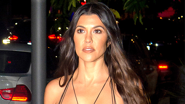 Kourtney Kardashian stuns in all black in her latest photo.